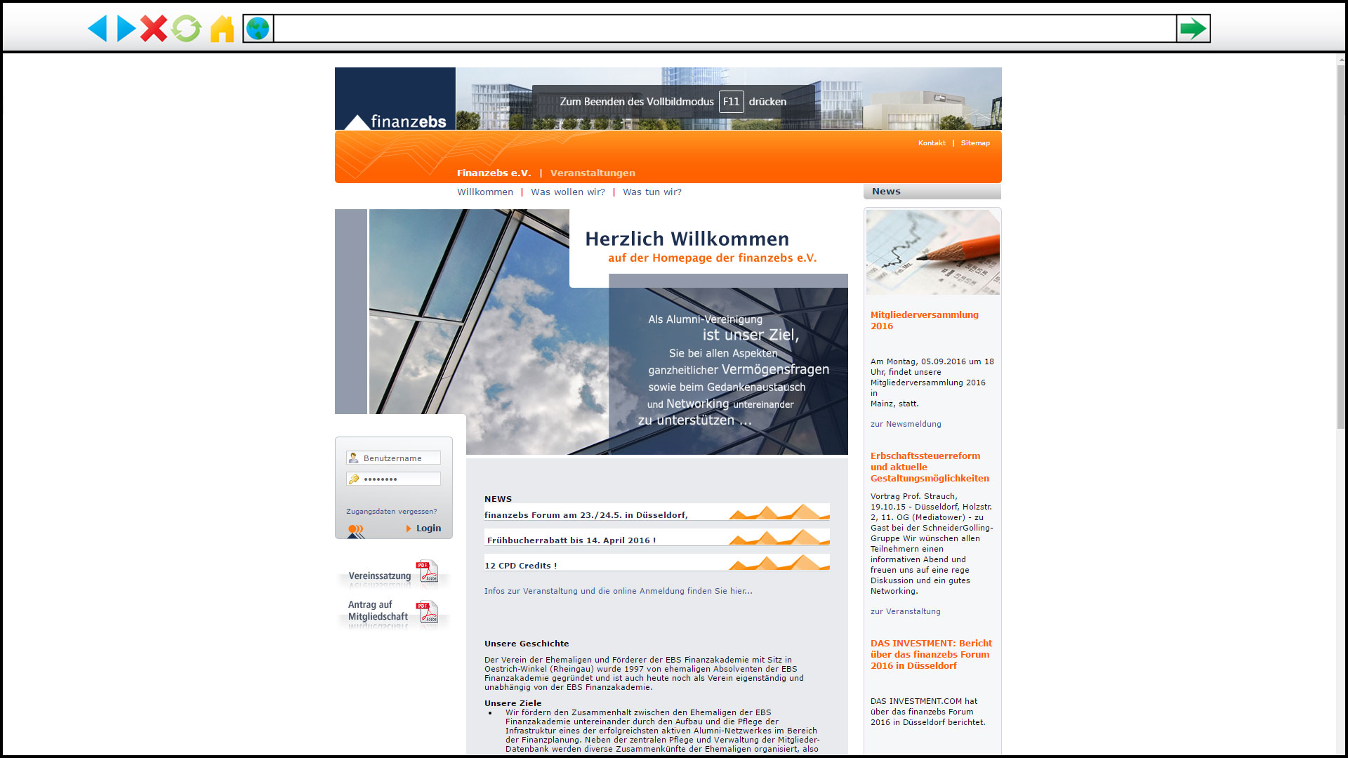 Screenshot von finanzebs e.V.